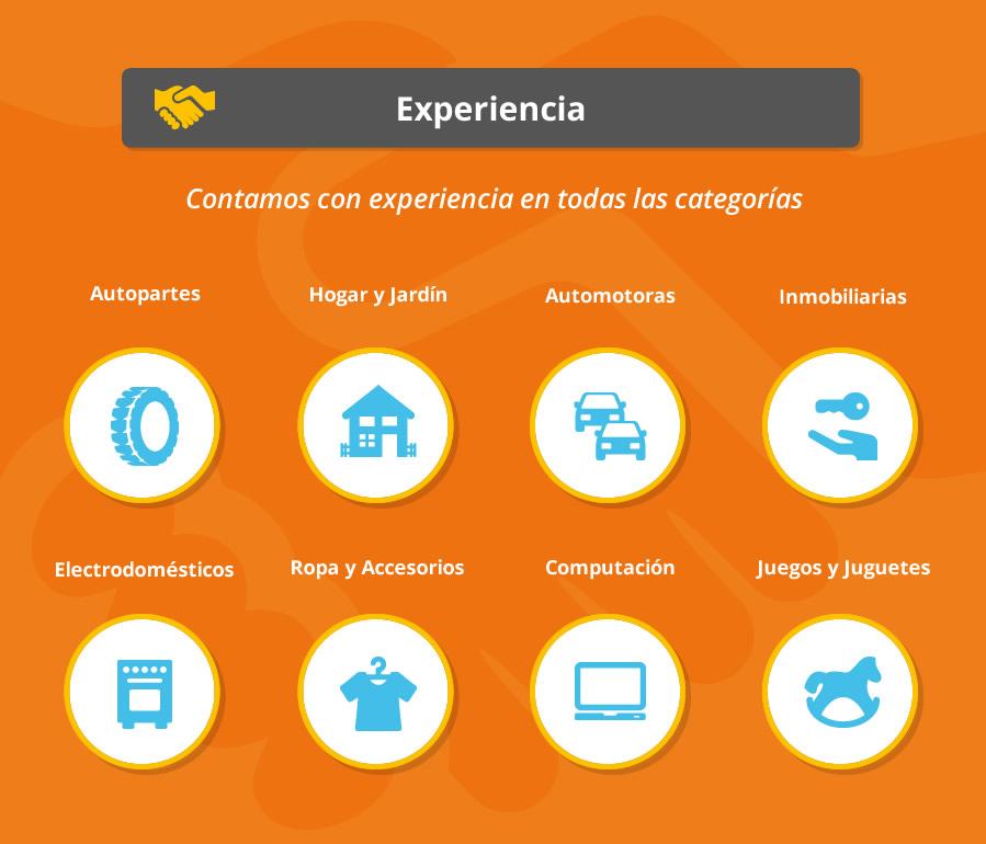 Experiencia en todas las categorías